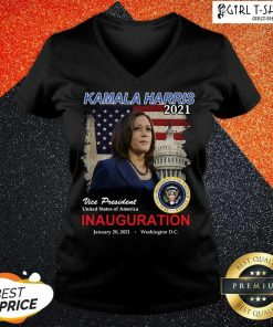 Original 2021 Inauguration Day Kamala Harris Commemorative Souvenir V-neck