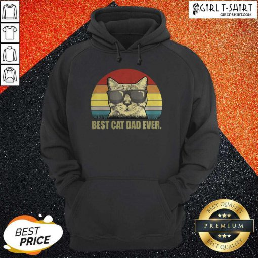 Best Cat Dad Ever Sunset Hoodie - Design By Girltshirt.com