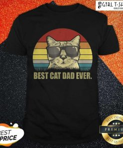 Best Cat Dad Ever Sunset Shirt - Design By Girltshirt.com