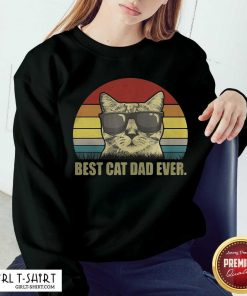 Best Cat Dad Ever Sunset Sweatshirt - Design By Girltshirt.com