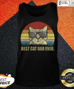 Best Cat Dad Ever Sunset Tank Top - Design By Girltshirt.com