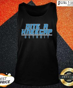 Bite A Kneecap Detroit Football Tank Top