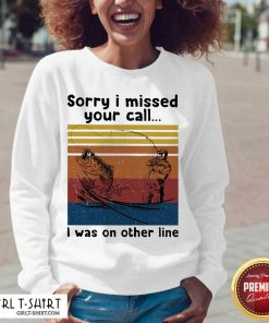Fishing Sorry I Missed Your Call I Was On The Line Vintage V-neck-Design By Girltshirt.com