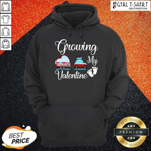 Growing My Valentine Hoodie-Design By Girltshirt.com