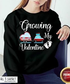 Growing My Valentine Sweatshirt-Design By Girltshirt.com