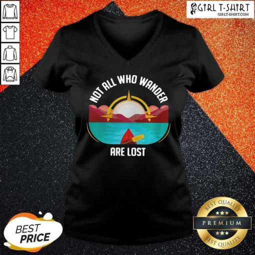 Rowing Not All Who Wander Are Lost V-neck