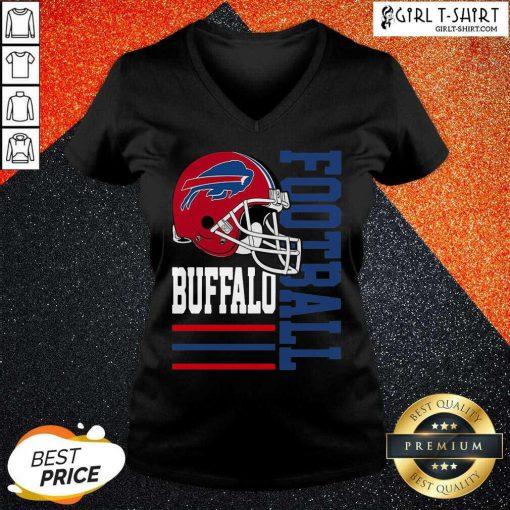 Helmet Of Buffalo Bills Football 2021 V-neck