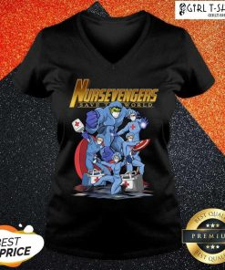 Marvel Avengers Nursevengers Save The World V-neck