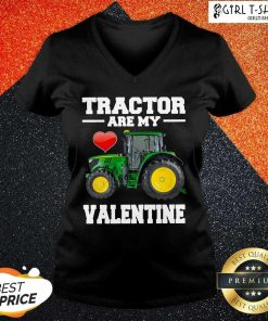 Tractor Are My Valentine V-neck