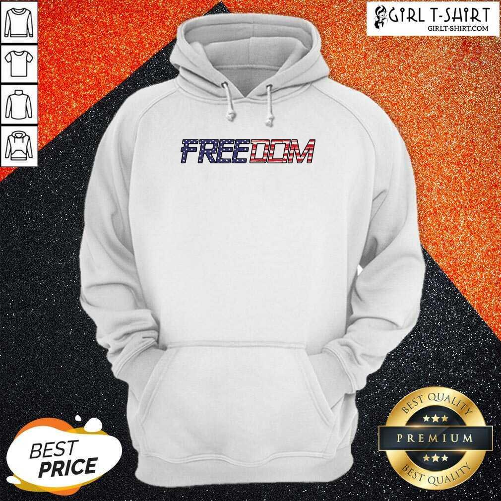 American Flag Patriotic Freedom Hoodie - Design By Girltshirt.com