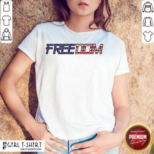 American Flag Patriotic Freedom Shirt - Design By Girltshirt.com