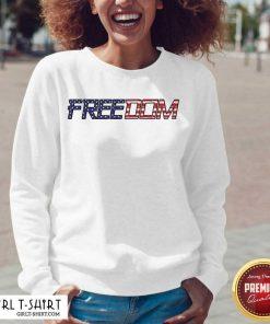 American Flag Patriotic Freedom V-neck - Design By Girltshirt.com