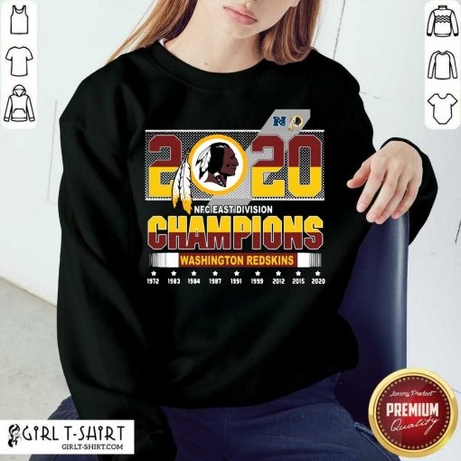 2020 Nfc East Division Champions Washington Redskins 1972 2020 Sweatshirt-Design By Girltshirt.com