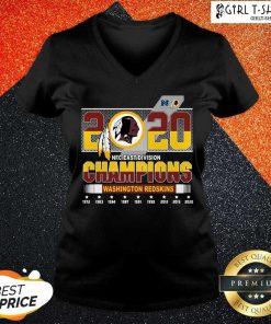 2020 Nfc East Division Champions Washington Redskins 1972 2020 V-neck-Design By Girltshirt.com