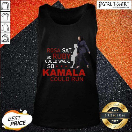 Kamala Harris Rosa Sat Ruby Walk First Female Vice President Tank Top