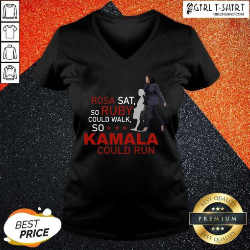 Kamala Harris Rosa Sat Ruby Walk First Female Vice President V-neck