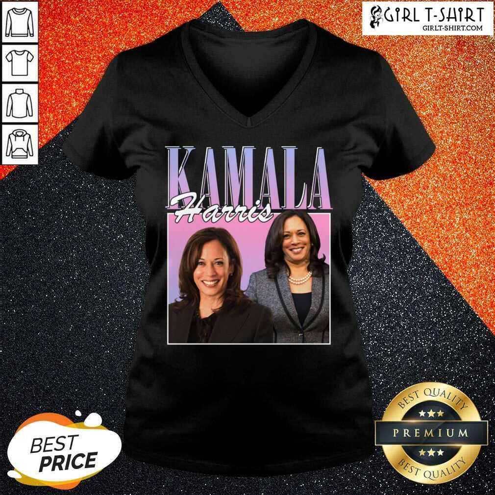 Kamala Harris Rap Hip Hop 90s Retro Vintage V-neck
