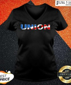Union American Flag V-neck