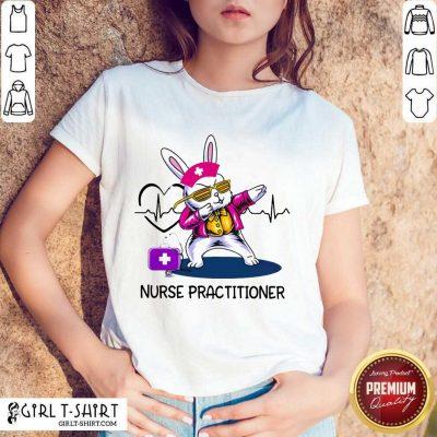 Funny Bunny Nurse Dab Practitioner Shirt