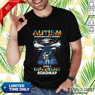Surprised Autism Using A Different Roadmap Shirt
