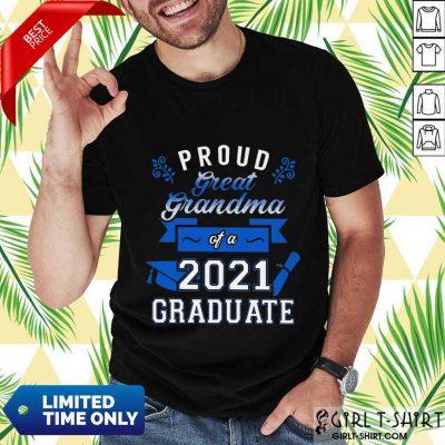 Terrific Grandma 2021 Graduate Blue Shirt