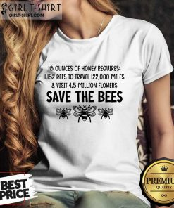Awesome Save The Bees Ladies Tee