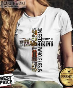 Funny All Need To Day Is Hikinh Whole Jesus Ladies Tee