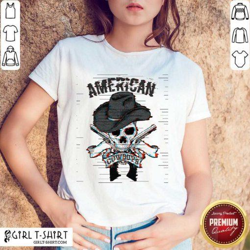 Funny American Cowboys Glitch Shirt
