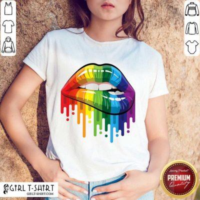 Funny LGBT Rainbow Lip Shirt