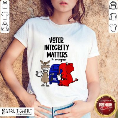 Good Socialdudtees Voter Integrity Matters To Everyone Shirt