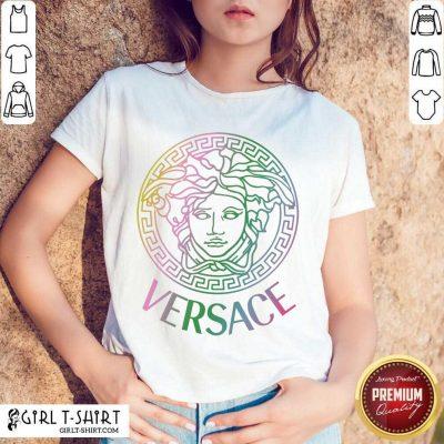 Happy Versace Logo Color Shirt