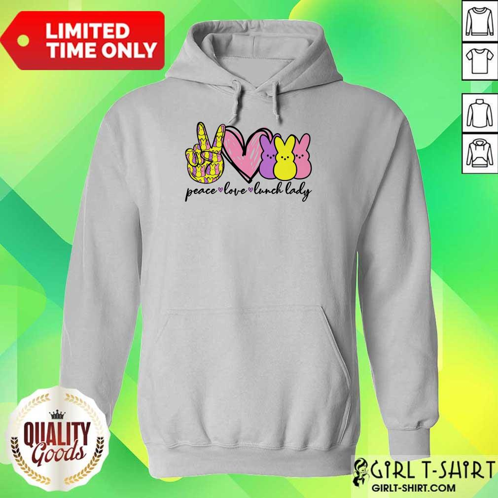 Hot Lunch Lady Peace Love Bunny Hoodie