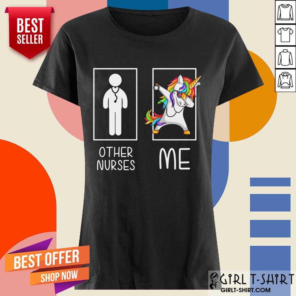 Nice Other Nurses Me Unicorn Dabbing LGBT Ladies Tee