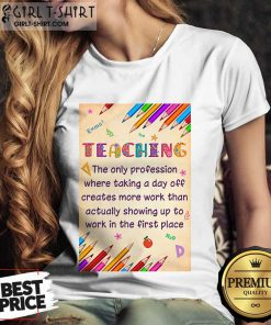 Pretty Teaching Profession Teacher Vertical Poster Ladies Tee