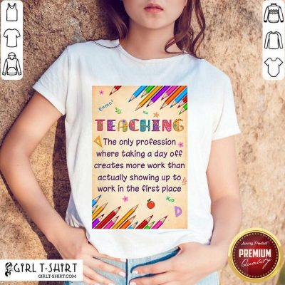 Pretty Teaching Profession Teacher Vertical Poster Shirt