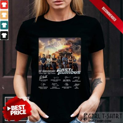 20Th Anniversary Fast And Furious Shirt