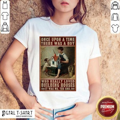 A Boy And Dog Building Houses Poster Shirt