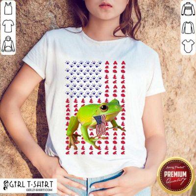 Frog American Flag Shirt