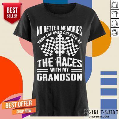 Memories The Races With My Grandson Ladies Tee