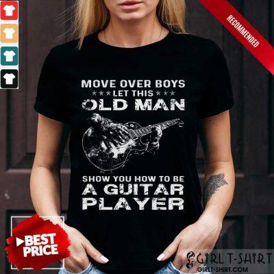 Old Man A Guitar Player Shirt