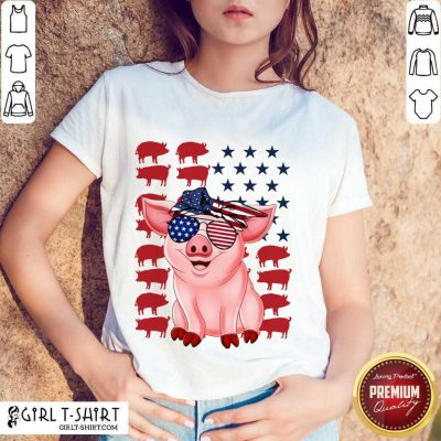 Pig American Flag Independence Day Shirt