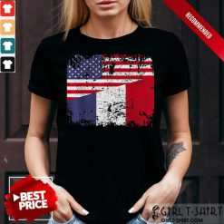 American And French Flag Shirt