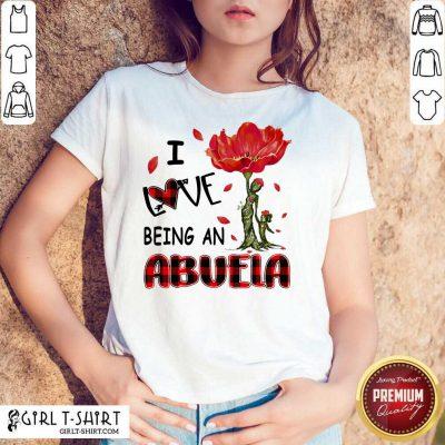 I Love Being An Abuela Red Flower Shirt