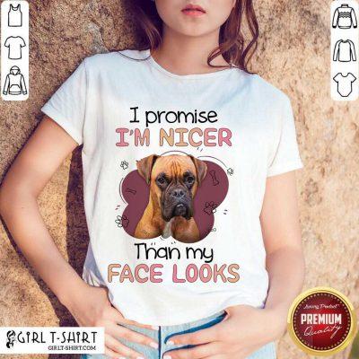I'm Nicer Than My Face Looks Pug Dog Shirt
