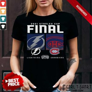 Montreal Canadiens And Tampa Bay Lightning 2021 Stanley Cup Final Shirt